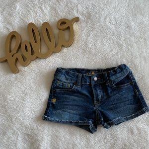 Lucky brand girls cut of jean shorts.